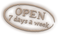 Open 7 days a week